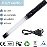 Stink Bug Catcher Vacuum- Insects Stink Bugs Bedbugs Spider Vacuum Catcher Sucker Pest Repellents Pest Control with LED Light USB Charging Cable Toy for Kids Reach to Corner Work at Night