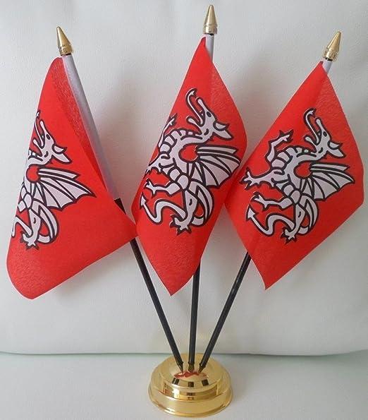 UKFlagShop Bandera Inglesa de Saxón Anglo de Inglaterra, 3 ...