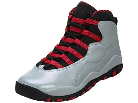 GIRLS AIR JORDAN 10 RETRO (GS) - 487211-009 - SIZE 4 -