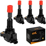 QYL Pack of 4 Ignition Coils for Honda Fit L4 1.5L Compatible with UF-581 C1578 UF581