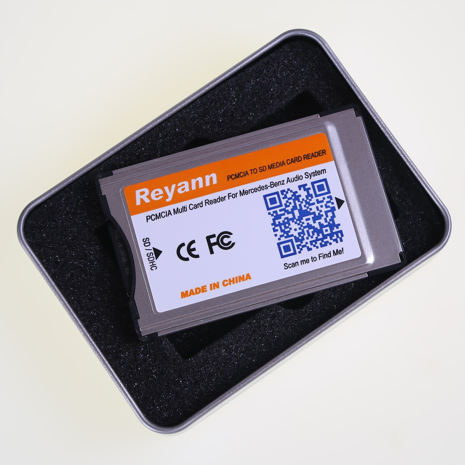 Reyann PCMCIA to SD/SDHC Card Adaptor Converter for Mercedes Benz PCMCIA Command System UP to 32GB