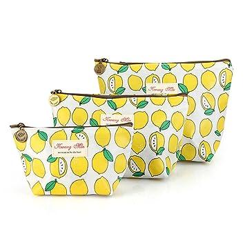 be20e61536e5b7 Com 3 Pcs Waterproof Cosmetic Bag Set Portable Travel Small Makeup Pouch  Toiletry Organizer For Women
