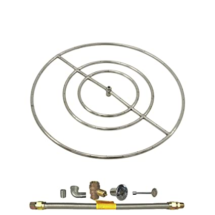 Image Unavailable. Image not available for. Color: Spotix HPC Round Fire  Pit Burner Kit ... - Amazon.com: Spotix HPC Round Fire Pit Burner Kit (FPS30KIT-NG-MSCB