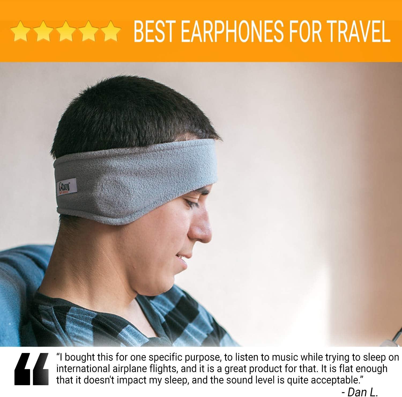 meditazione e relax viaggi in aereo sport CozyPhones Cuffie Sleep /& Borsa da Viaggio nero. Fodera in Lycra Cool Mesh e Altoparlanti Ultra Sottili Perfetto per dormire