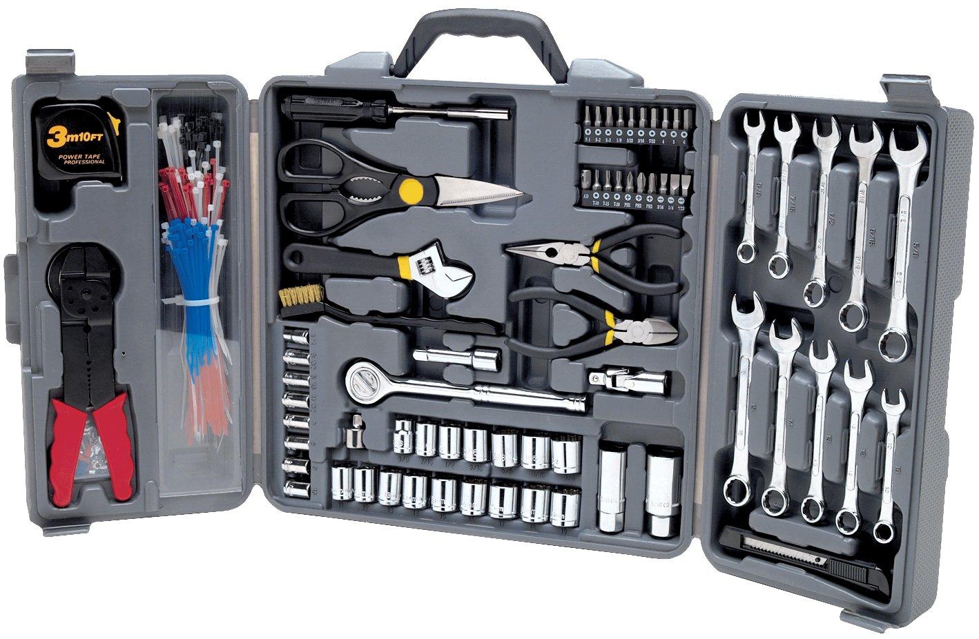 Performance Tool W1519 SAE/Metric 265 Piece Tri-Fold Home & Auto Tool Set (1/4'' & 3/8'' Drive)