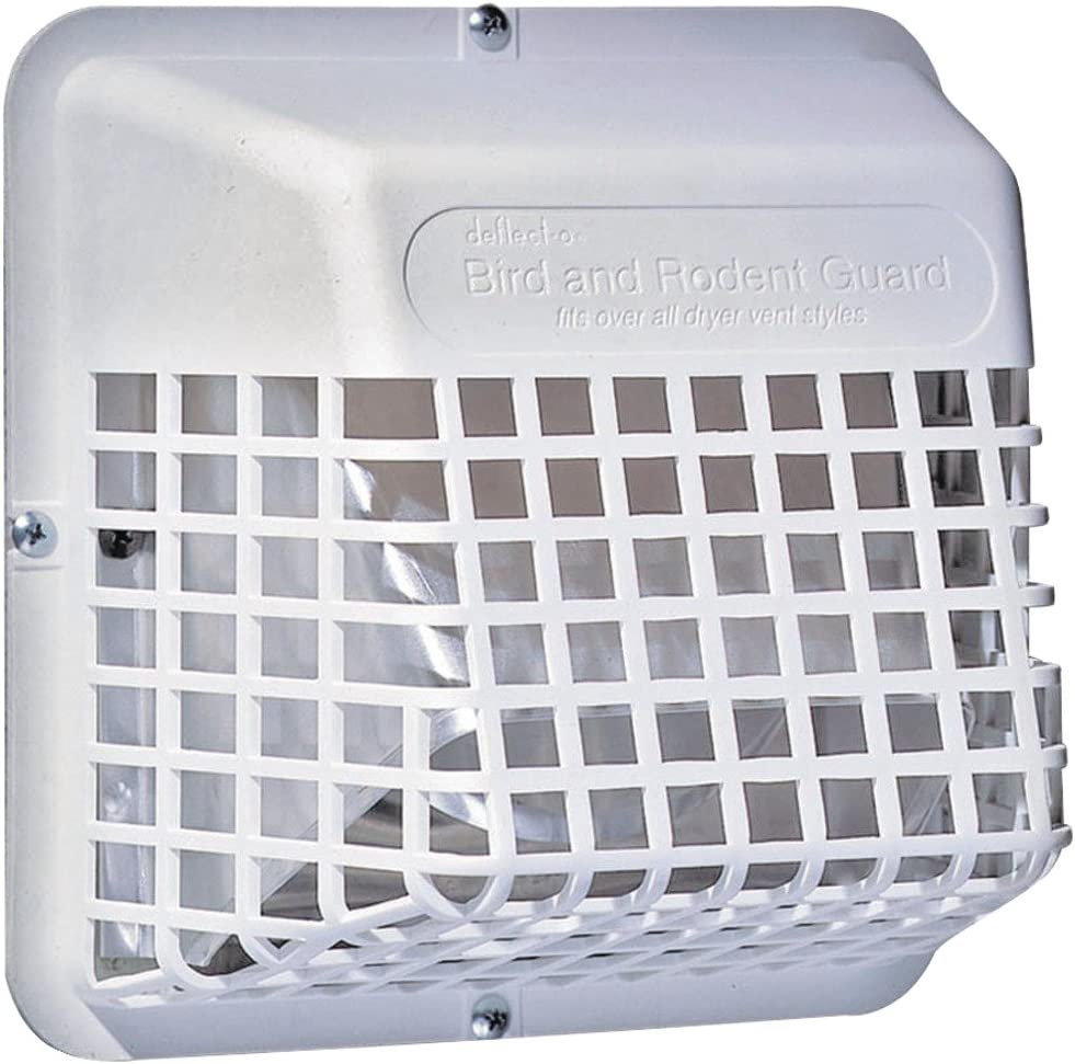 """1 - UBGWL Universal Bird Guard, Prevents birds from nesting in duct, Fits any 3"""" or 4"""" exterior exhaust hood, UBGWL-A"""