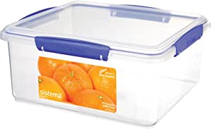 Sistema 1850 Klip It Collection Rectangle Food Storage Container, 169 Ounce/21 Cup