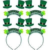 Boao 8 Piezas de Diadema de Sombrero de Tela Adorno de Cabeza de Trébol  Verde de f90fa9fd671