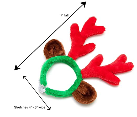 568f4dba70de2 Amazon.com   Midlee Christmas Reindeer Antlers with Ears for Large Dogs    Pet Supplies