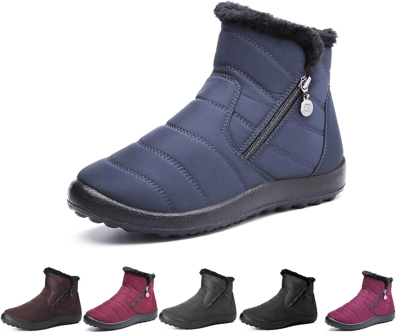 Camfosy Womens Winter Snow Boots