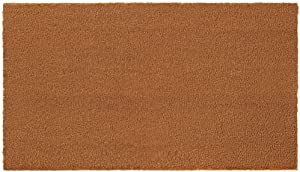 Gorilla Grip Premium Coco Coir Natural Door Mat, Heavy Duty, Easy Clean, Home Décor, Indoor Outdoor Welcome Front Entrance Doormat, Thick Durable Rug, Low-Profile Mats for Entry, Porch, 24x16, Solid