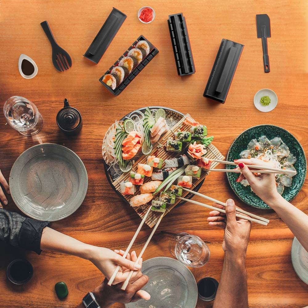 Sushi Maker kit 10pcs 5 Formas únicas de Kit para Hacer Sushi ...