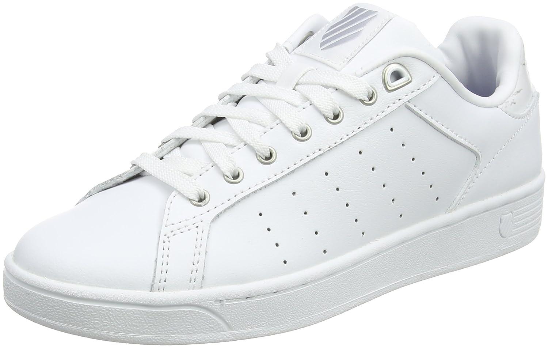 K-Swiss Clean Court CMF, Zapatillas para Mujer 35.5 EU Blanco (White/Gray Marble)