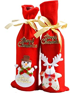 Just Food Network Wine Bottle Cover Santa And Snowman Sweater With Two Wine Gift Bags For Sale Kitchen, Dining & Bar Home & Garden