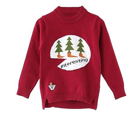 f441b7dad ZHUANNIAN Baby Toddler Unisex Christmas Tree Jumper Xmas Knit ...