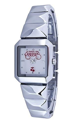 Le Temps des Cerises TC47WTM - Reloj digital para mujer de metal plateado: Amazon.es: Relojes