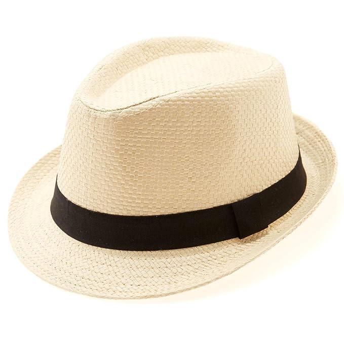 Kiabi Chapeau panama paille beige 57  Amazon.fr  Vêtements et accessoires 6f87cb975d5