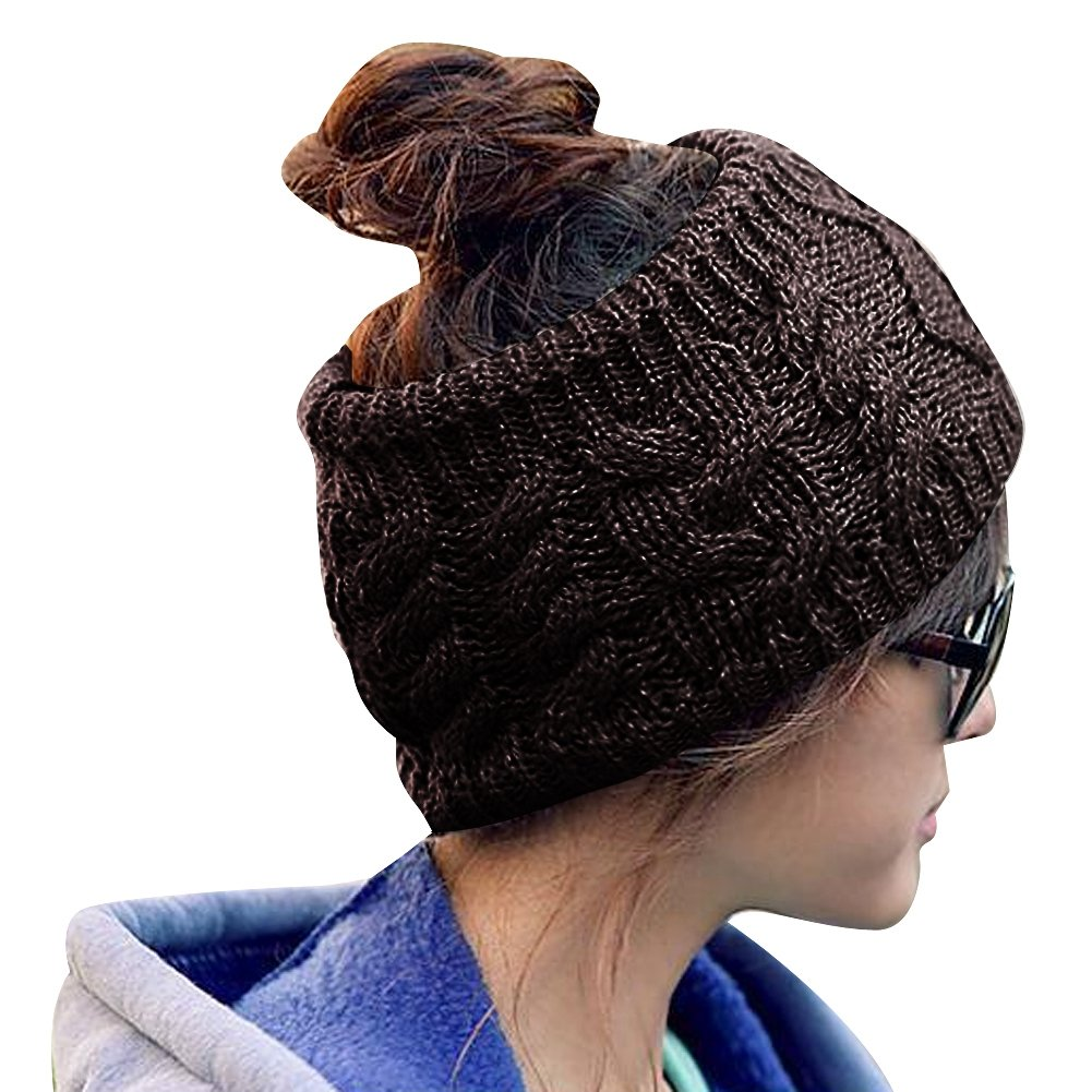 Bandeaux d'hiver TININNA Bandeaux en tricot crochets Bandeau à cheveux Turban Chauffe-oreilles Bandeau de cheveux beige