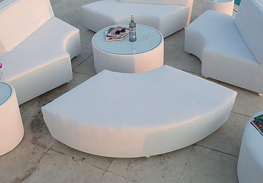 Dafne Italian Design Banc Demi-Lune de Jardin 182 x 102 x H ...