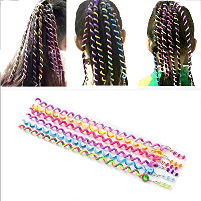 12PCS BcPowr Women Girl Hair Styling Twister Clip Braider Tool Hair Accessories With Beads. (Multicolor)