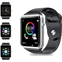 hanylish Reloj Inteligente Bluetooth, Compatible con iOS y Android, Cámara, Ranura para SIM y Micro SD, Redes Sociales…