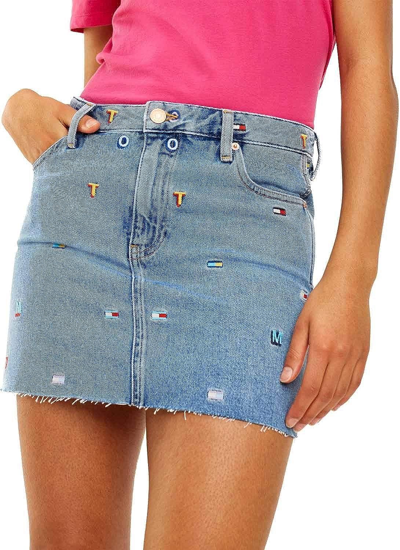 Tommy Jeans Falda Vaquera GR Mujer 29 Azul: Amazon.es: Ropa y ...