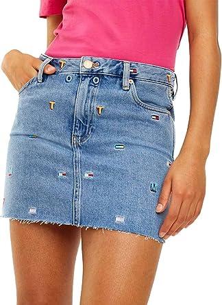 Tommy Jeans Falda Vaquera GR Mujer 28 Azul: Amazon.es: Ropa y ...