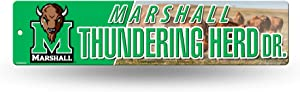 NCAA Rico Industries 16-Inch Plastic Street Sign Décor, Marshall Thundering Herd