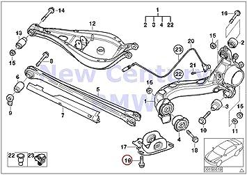 amazon com 4 x bmw genuine rear axle support wheel suspension BMW 330Ci Engine Diagram 4 x bmw genuine rear axle support wheel suspension collar screw m12x1 5x43 zns3 318i 318is 320i 323i 325i 325is 328i m3 m3 3 2 320i 323ci 323i 325ci 325i