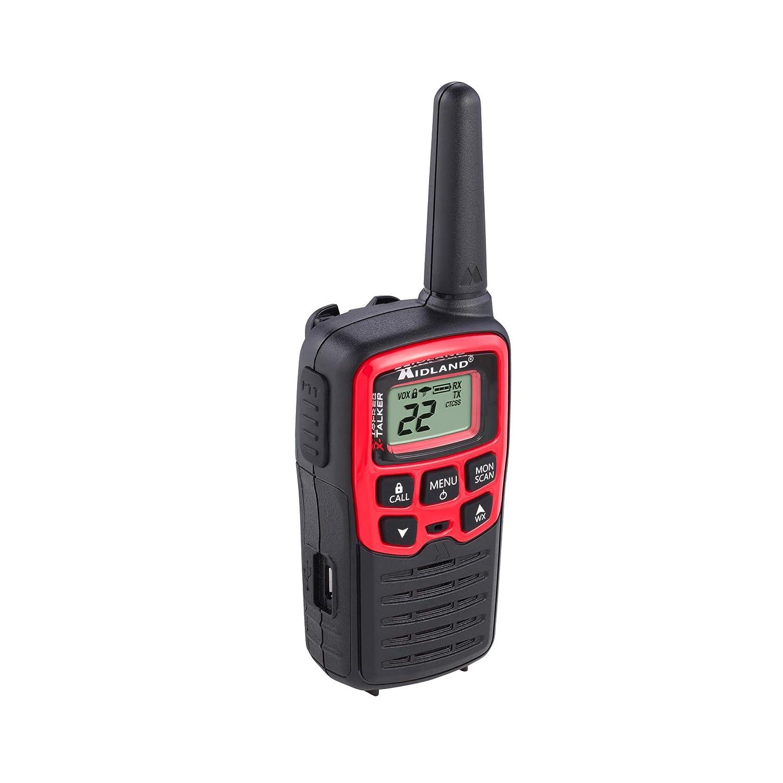 X-TALKER T31VP 8 Pack NOAA Weather Alert 22 Channel FRS Walkie Talkie 38 Privacy Codes Black//Red Up to 26 Mile Range Two-Way Radio Midland Midland Radio Corporation T31X8VP
