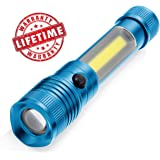 SAFE BRIGHT Magnetic CREE 3-in-1 LED Flashlight Lantern with Holster, adjustable focus