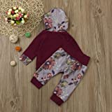 Newborn Baby Boy Girl Toddler Floral Long Sleeve