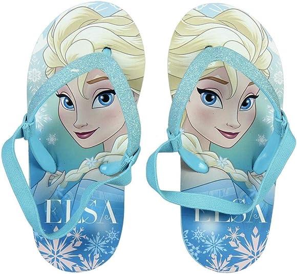 Tongs avec Sangle /élastique Enfant Fille La Reine des Neiges Elsa Frozen II Violet du 22 au 28