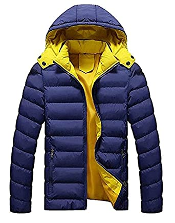 04a23aa46b1a Amazon.com  Cheryl Bull Trendy Mens Lightweight Padded Hooded Puffer Jacket  Down Coat  Clothing