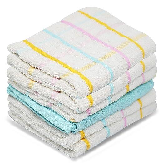 Towelogy® - Juego de 6 paños de Cocina (100% algodón, 60 x 45 cm ...