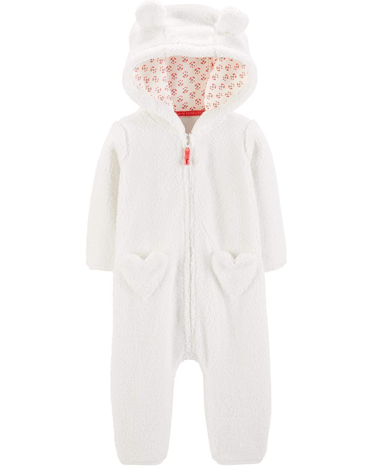 Carters Hooded Sherpa Jumpsuit