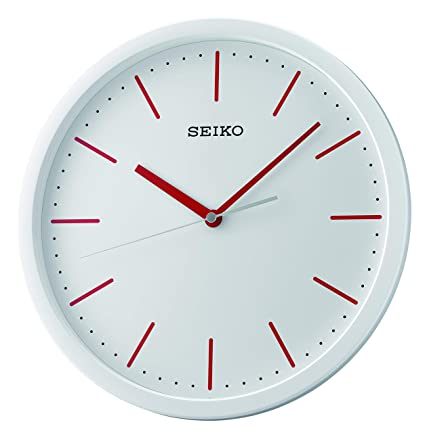 Seiko Plastic Case Wall Clock (30 cm x 30 cm x 4.5 cm, White) Clocks at amazon