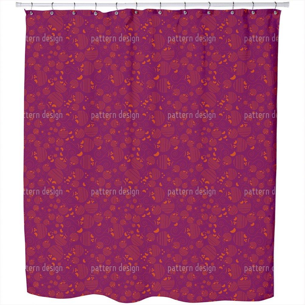 Uneekee Paisley Kids Shower Curtain: Large Waterproof Luxurious Bathroom Design Woven Fabric