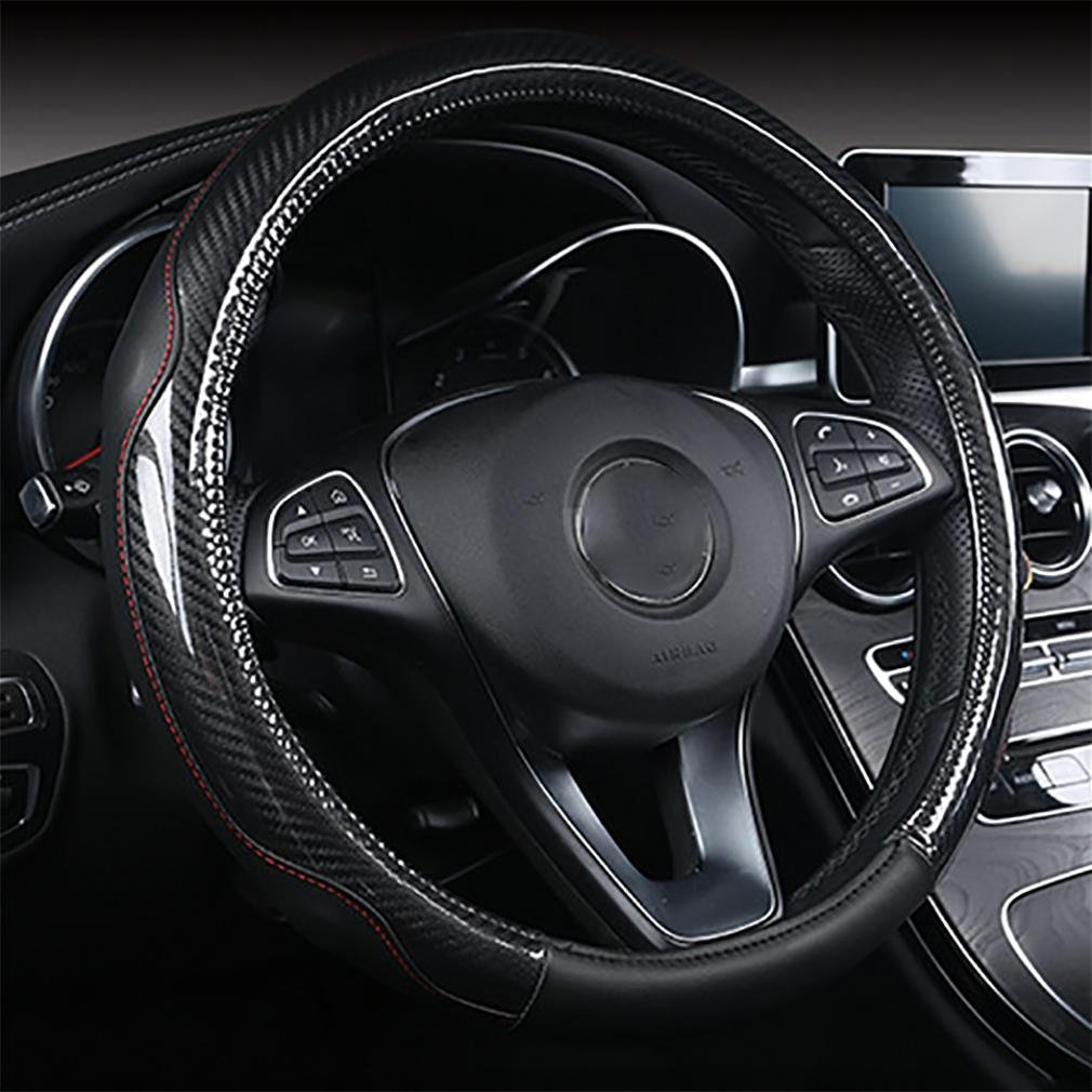 LPY-Universal PU Leather Car Van Steering Wheel Cover / Plain Effect Protector / Size: 38cm , 38cm Car steering wheel