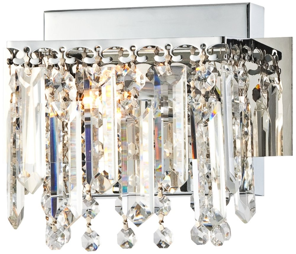 Possini Euro Hanging Crystal 7 3/4'' Wide Chrome Wall Sconce by Possini Euro Design (Image #1)