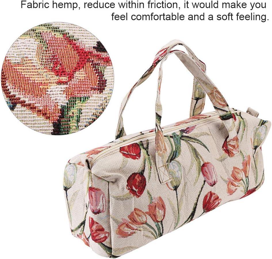 Aufbewahrungstasche Haushaltsgewebe Stricknadeln Lagerung N/ähnadeln Organizer Tasche f/ür als Kosmetiktasche Schreibtischspeicher Reisespeicher Schlafzimmerspeicher und Einkaufstasche Lila Blume