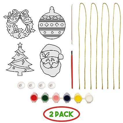 Amazon Com 4 Diy Christmas Suncatcher Ornaments Crafts For Kids