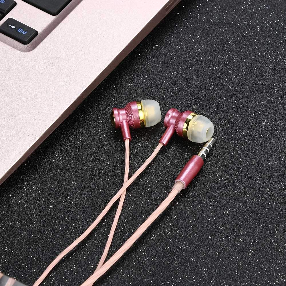 SUGEER 2020 Best Upgraded Radiation Free Headphones Earbuds Earphone Universal 3.5mm in-Ear Stereo Wired Earbuds Earphone with 1.2M Knitted Cable,Built-in Hands-Free Microphone