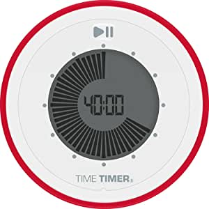 Time Timer Twist 90 Minute Visual Digital Timer; Magnetic and Portable Time Management Tool - Red - TT31-W
