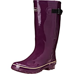 Jileon Wide Calf All Weather Durable Rubber Rain Boots For Women ...