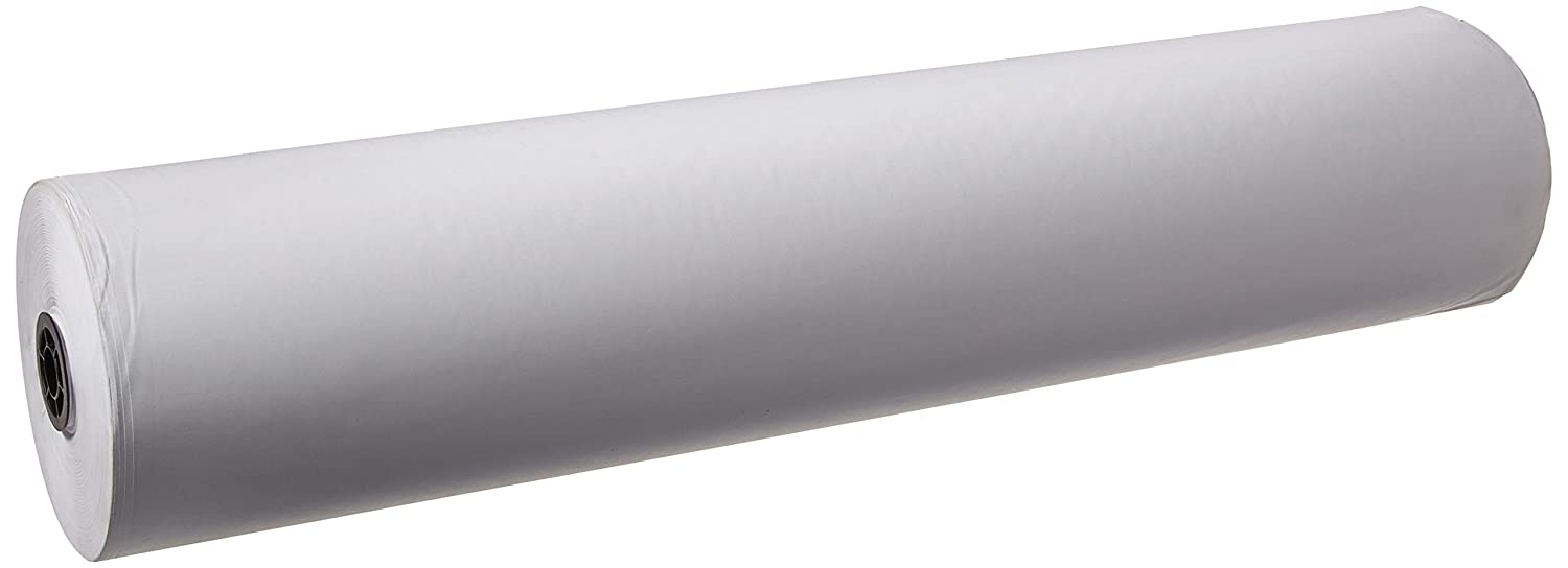 School Smart Kraft Wrapping Paper Roll, 50 lbs, 36 Inches x 1000 Feet, White