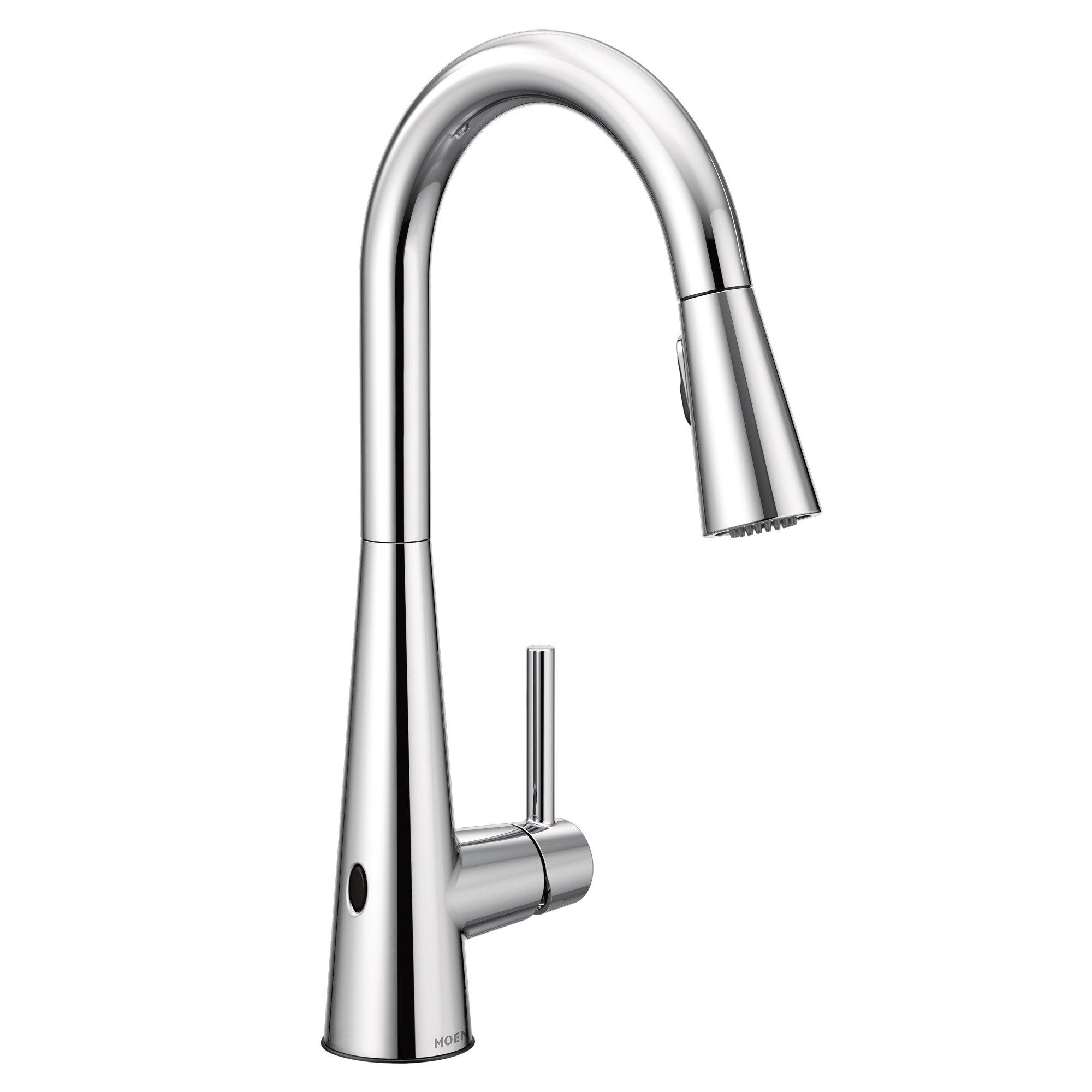 Moen 7864EWC Sleek Motionsense Wave Touchless One-Handle High Arc Pulldown Kitchen Faucet Featuring Reflex, Chrome (7594EWC) by Moen