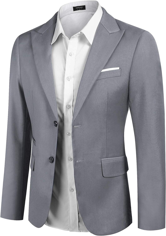 COOFANDY Men's Slim Fit Suit Blazer Jacket Two Button Lightweight Sport Coats