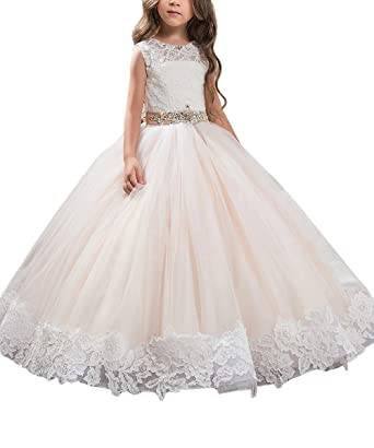cf09e7be7bf AbaoSisters Floral Appliques Fluffy Girl Ball Gown Picture Color Size 2