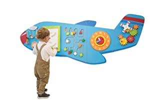 Learning Advantage Airplane Activity Wall Panels - 18M+ - in Home Learning Activity Center - Wall-Mounted Toy for Kids - Toddler Decor for Play Areas